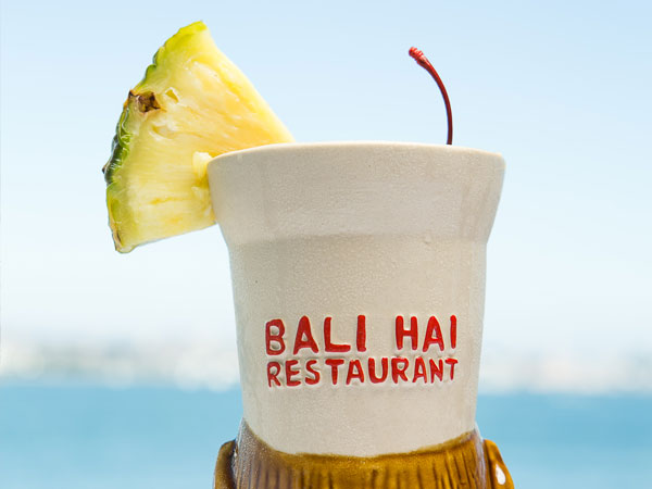 Tiki Cup with a beverage inside