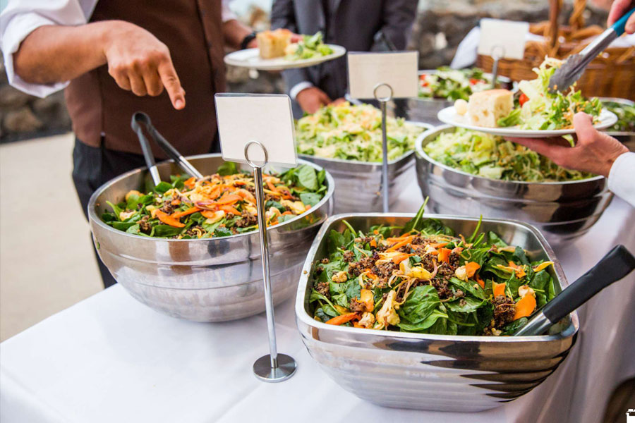 Numerous types of salads